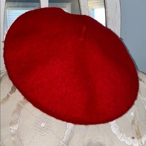 Urban outfitters red wool beret hat new with tags